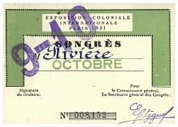 Congrès de la recherche scientifique dans les territoires d'Outre-Mer, organisé par l'association Colonies-Sciences, Paris, 1937 : Correspondance