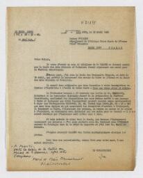 Correspondances et documents administratifs du MNAAO